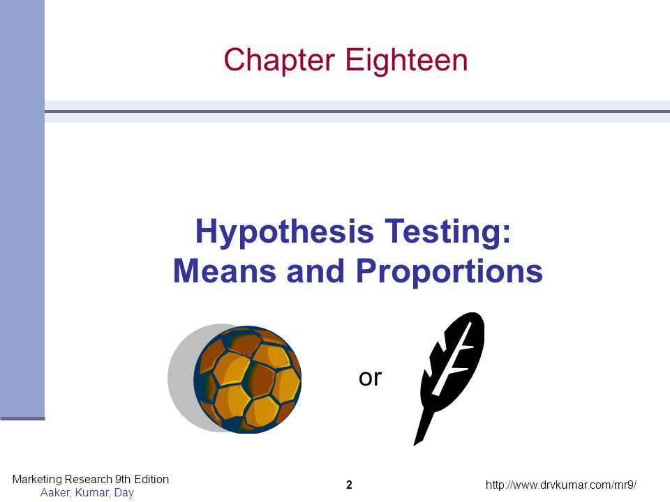 Hypothesis Testing: Means and Proportions