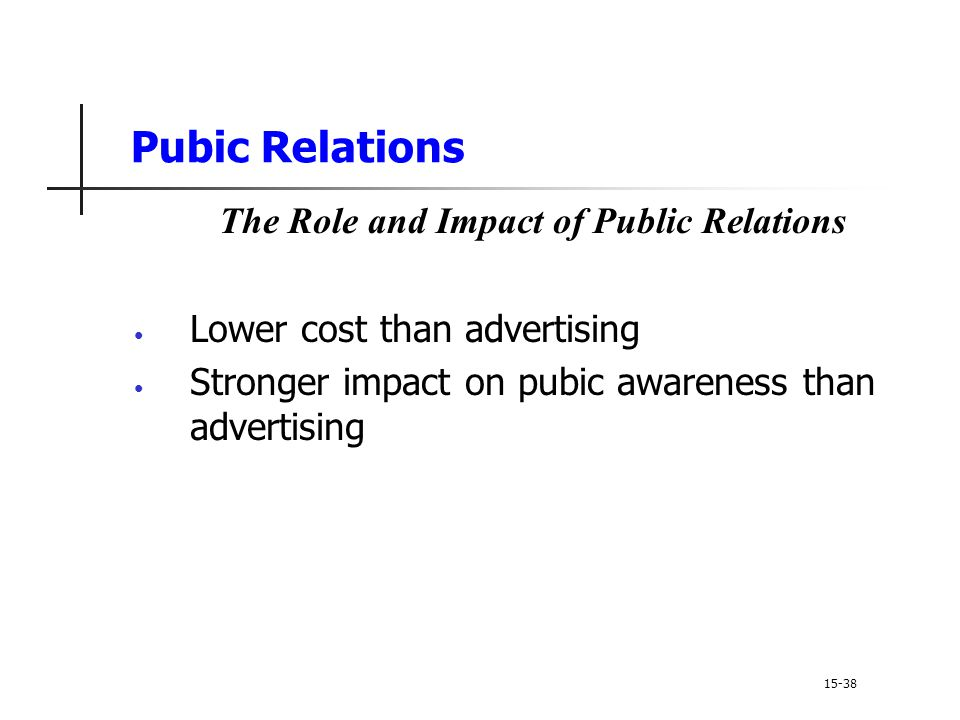 The Role and Impact of Public Relations