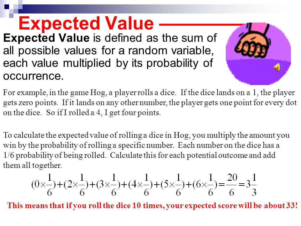 Probability And Expected Value Ppt Download