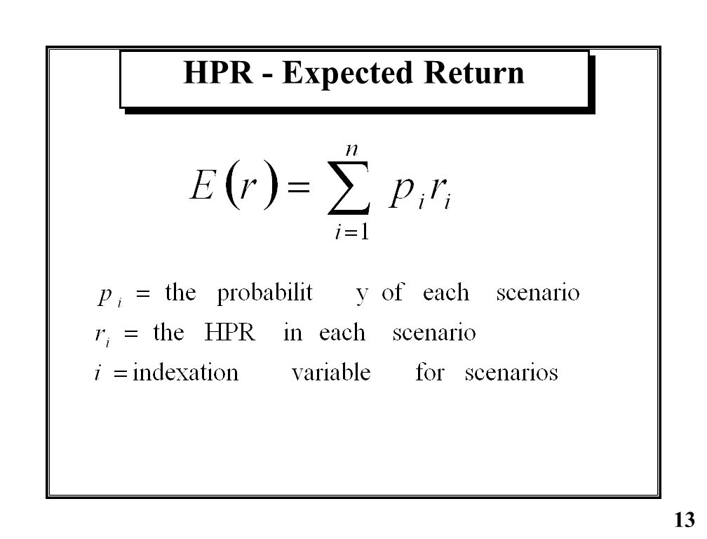 HPR - Expected Return