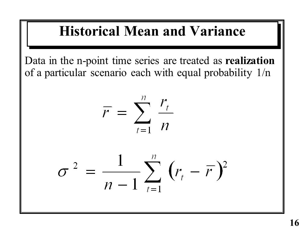 Historical Mean and Variance