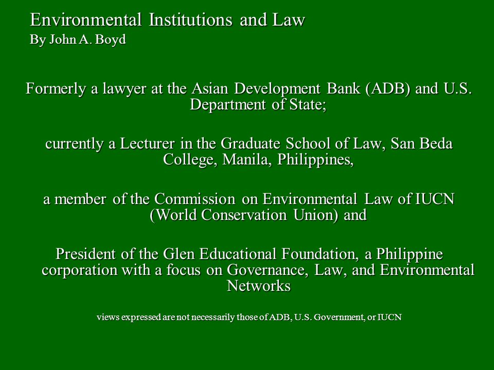 environmental laws of the philippines Understand the most important environmental laws and regulations  result of exxon valdez deals with oil transfer facilities the clean air act (caa)  - a free powerpoint ppt presentation (displayed as a flash slide show) on powershowcom - id: 15bcaf-zmm4z.