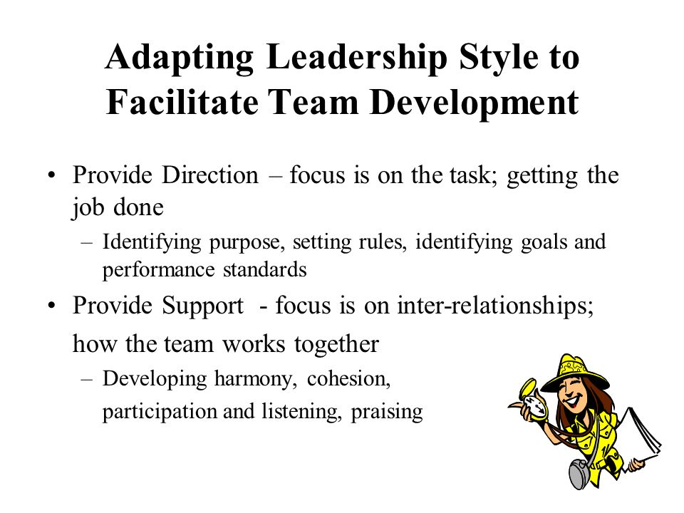 adapting your leadership style The most appropriate leadership style depends on the function of the leader,  you can read them through to see which one fits right to your company or situation 1.