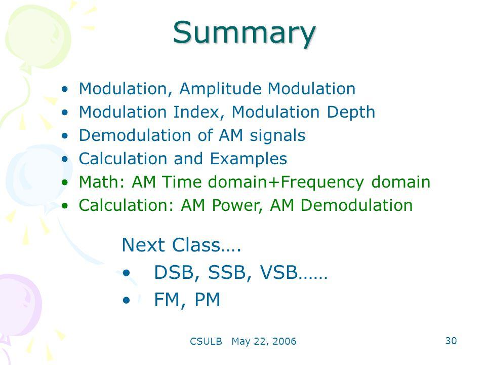 Amplitude Modulation Wei Li Csulb May 22 Ppt Video Online