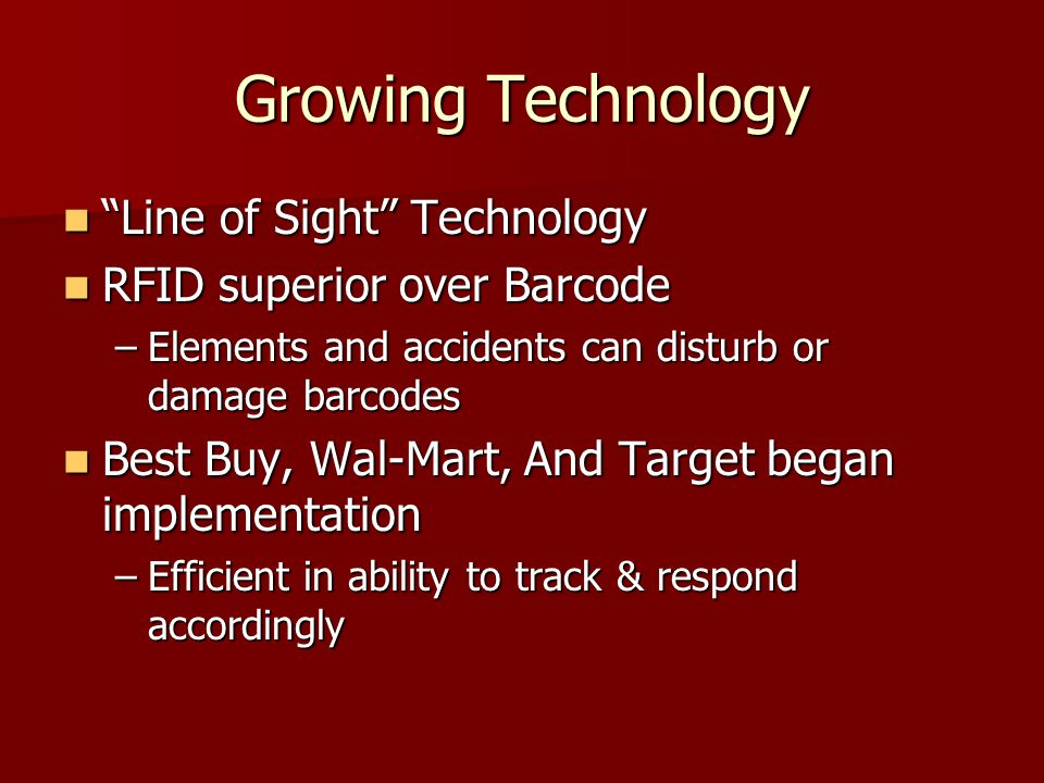 Growing Technology Line of Sight Technology