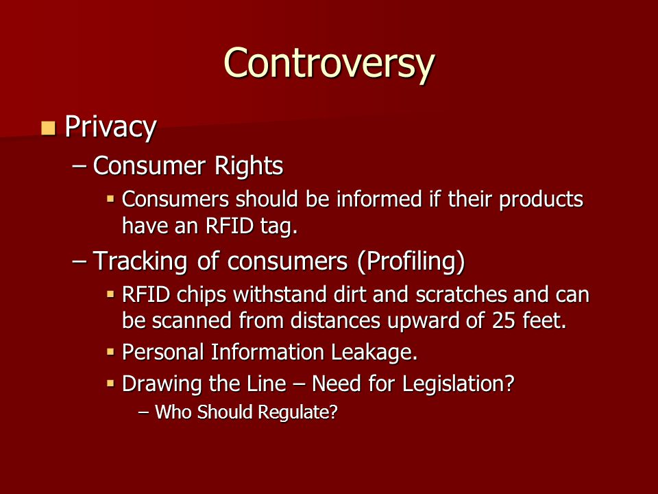 Controversy Privacy Consumer Rights Tracking of consumers (Profiling)