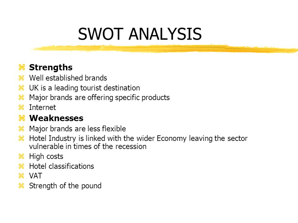 Swot uk travel industry