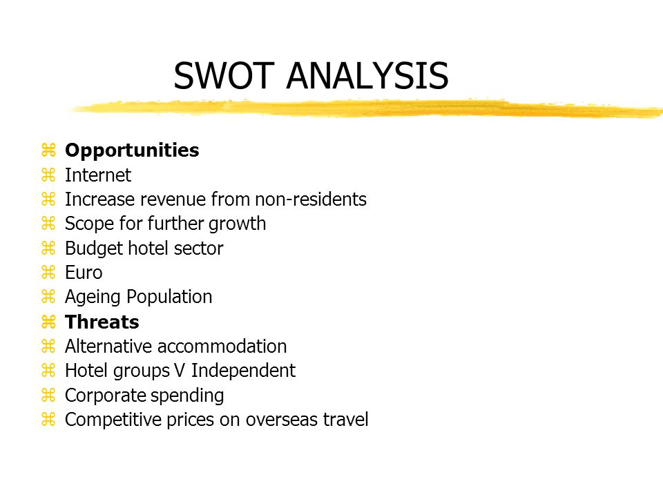 SWOT ANALYSIS OF TAJ HOTELS