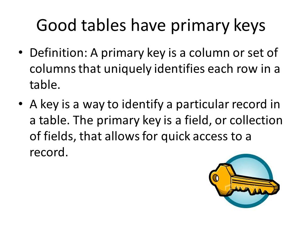 how to change primary key in access