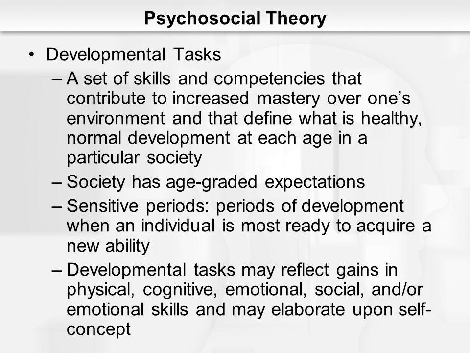 Psychosocial Theory Developmental Tasks.
