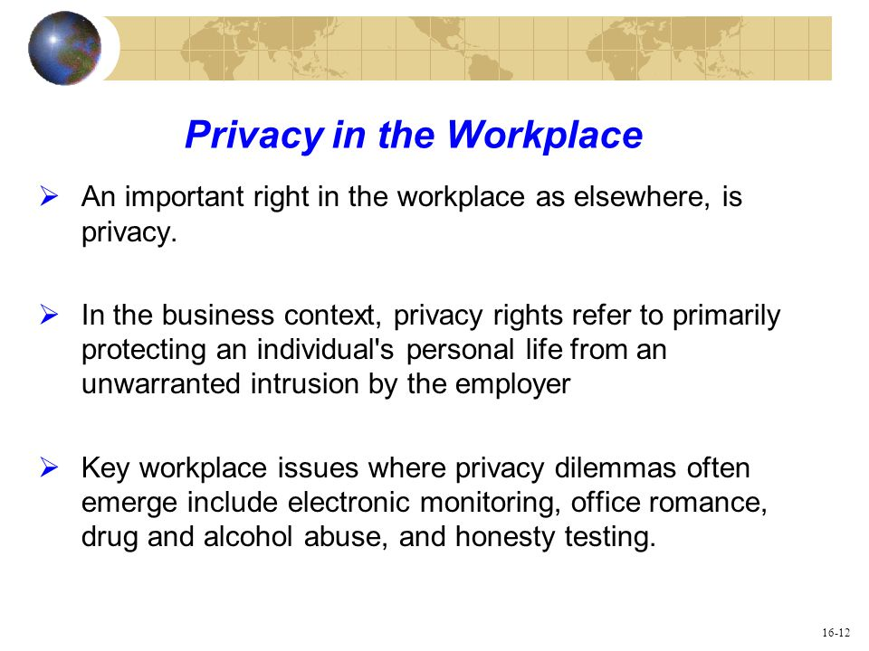 Workplace Privacy