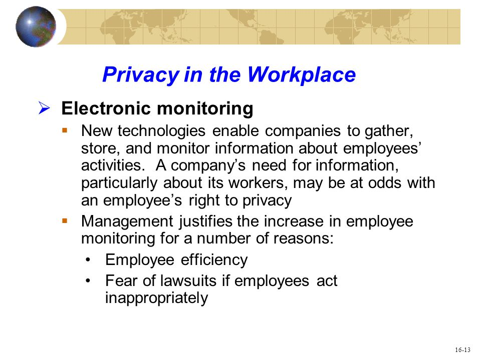 is drug testing an unwarranted invasion of employee privacy Is drug testing an unwarranted invasion of employee privacy which is more important–getting drugs out of the workplace or protecting the privacy of the employee what about other health-threatening activities, i e smoking outside of working hours, unprotected sex, etc.