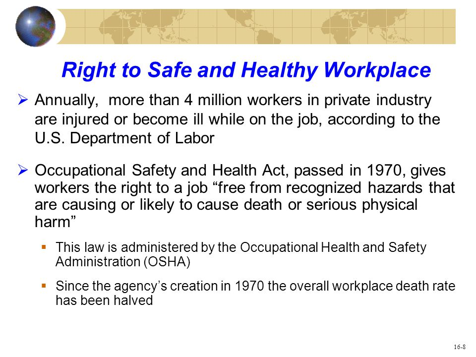 safe and healthy workplace pdf