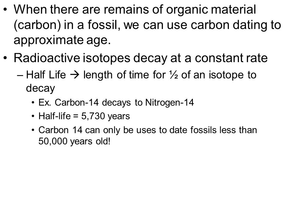 Which radioactive isotope is used in dating organic materials