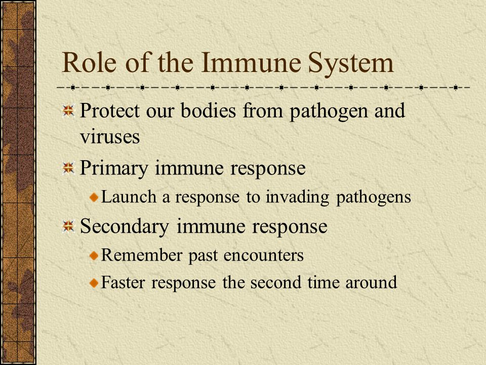 Role of the Immune System
