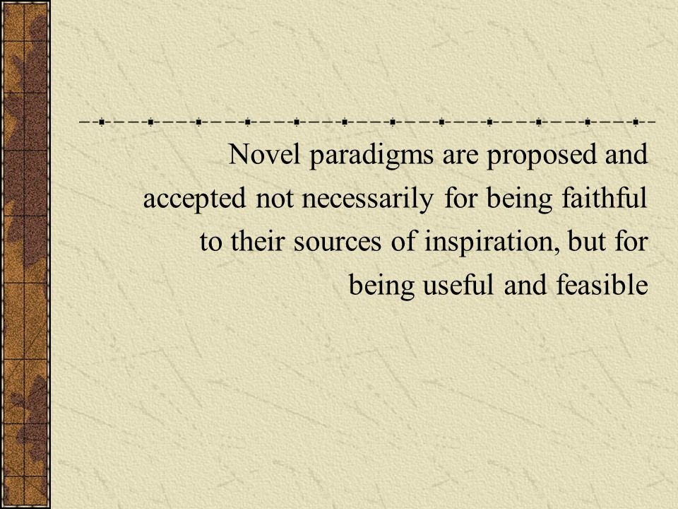 Novel paradigms are proposed and