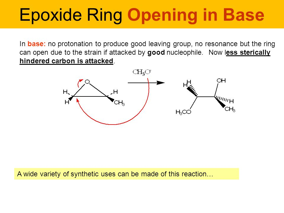Mechanism Epoxide Ring Opening