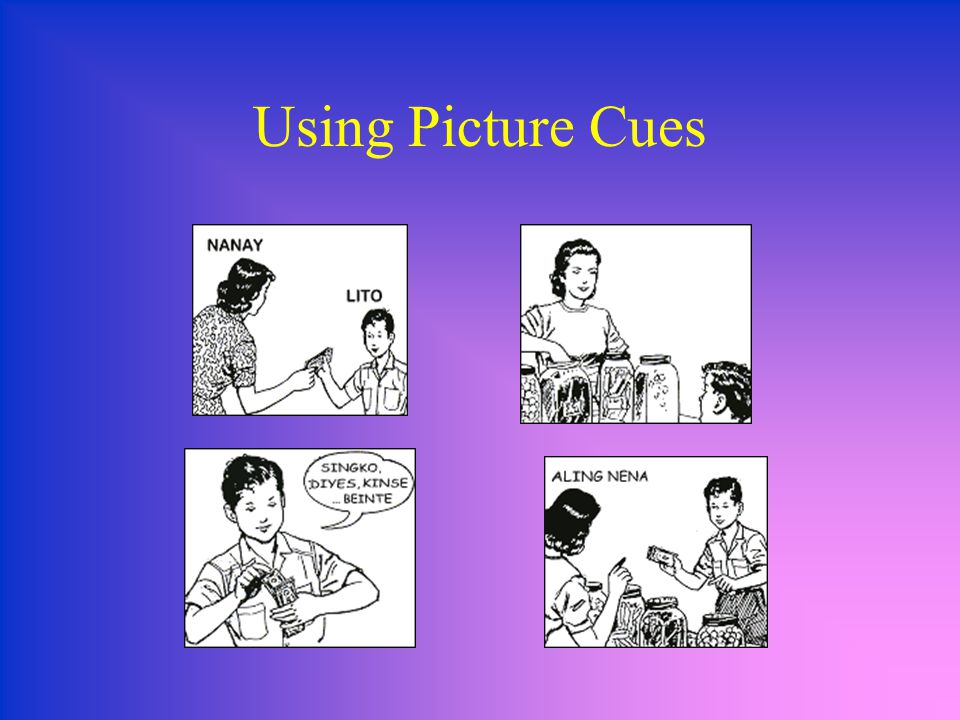 Using Picture Cues
