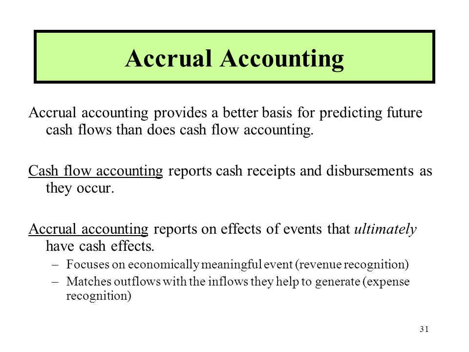 cash flow accounting accrual accounting which ones better Understand the different accounting methods, cash basis and accrual and determine what is best for your small business needs cash based vs accrual based accounting - which one is right for you info@pike13com.