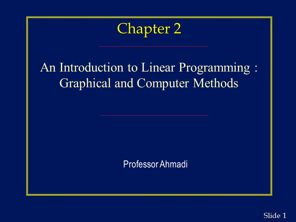 chapter 2 an introduction to linear