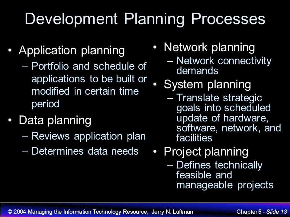 Development Planning Processes