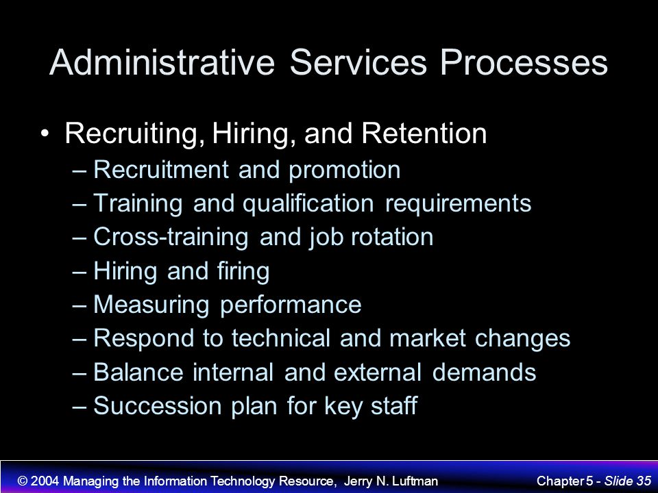 Administrative Services Processes