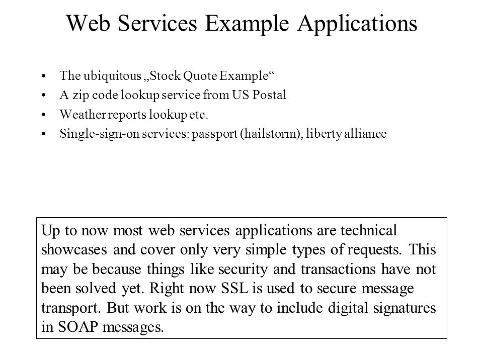 example of web application and web services