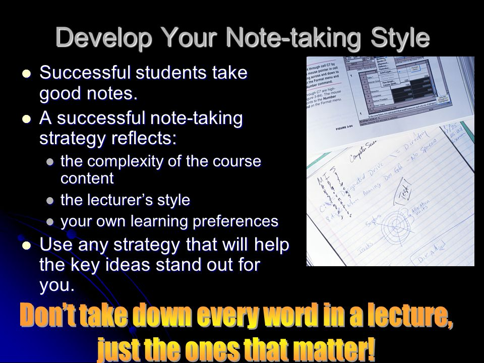 Develop Your Note-taking Style