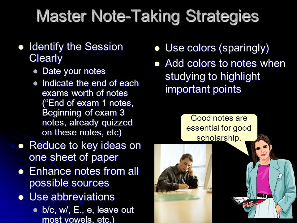 Master Note-Taking Strategies