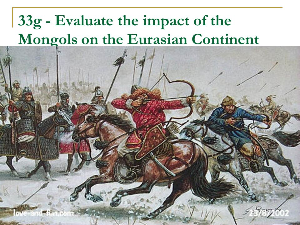 impact of the mongols To answer this seemingly simple (in reality fairly complex) question, we will need to go for a leisurely stroll through the history of china, and pay special attention to cultural values and.