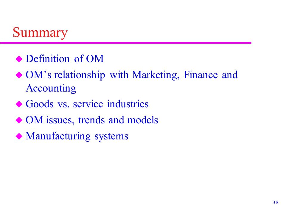 Chapter 1 Introduction To Operations Management Ppt