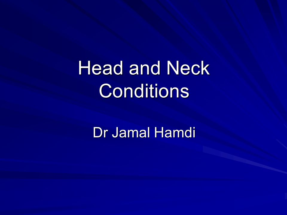 Head and Neck Conditions