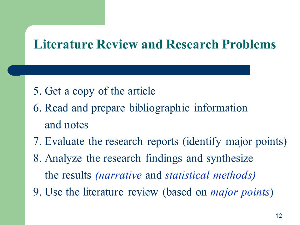 Literature Review (2010)