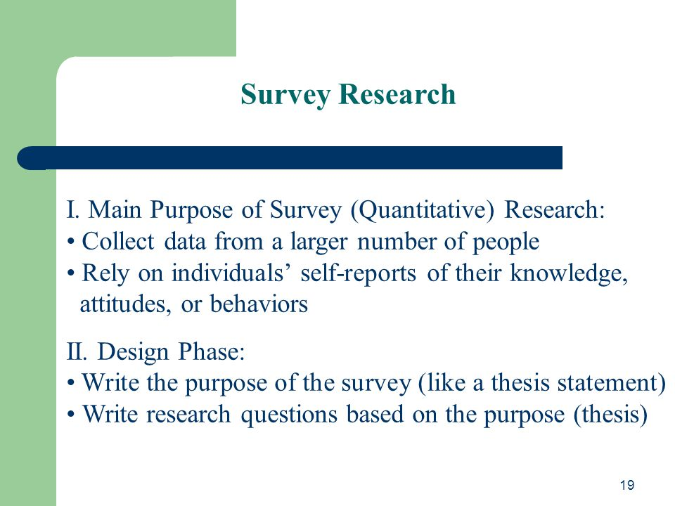 writing quantitative research thesis