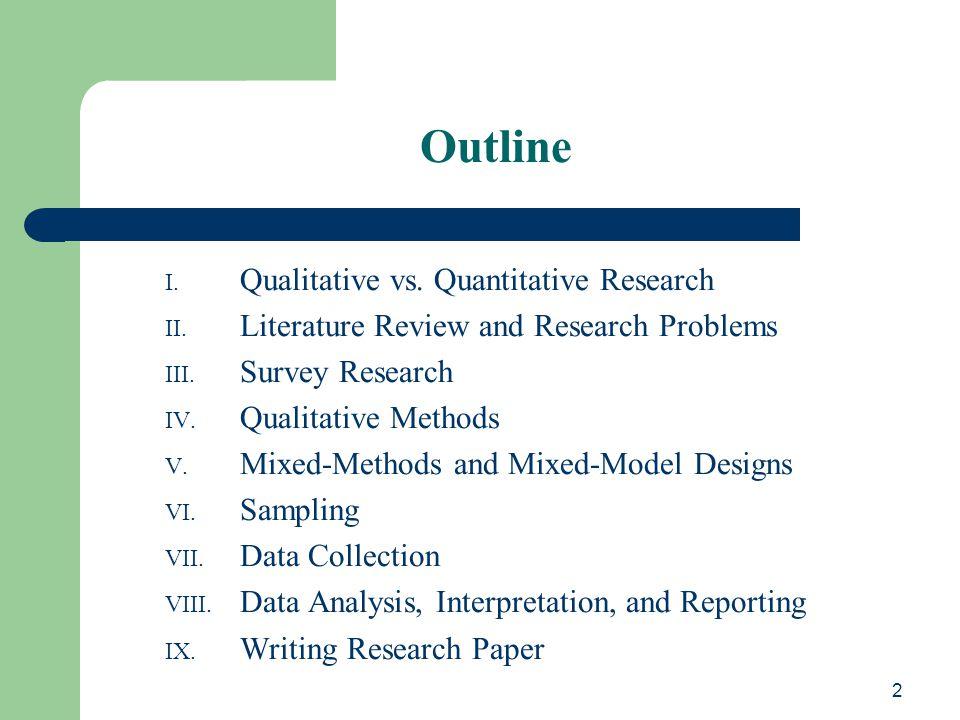 Dissertation quantitative methodology Writing Dissertation Proposal
