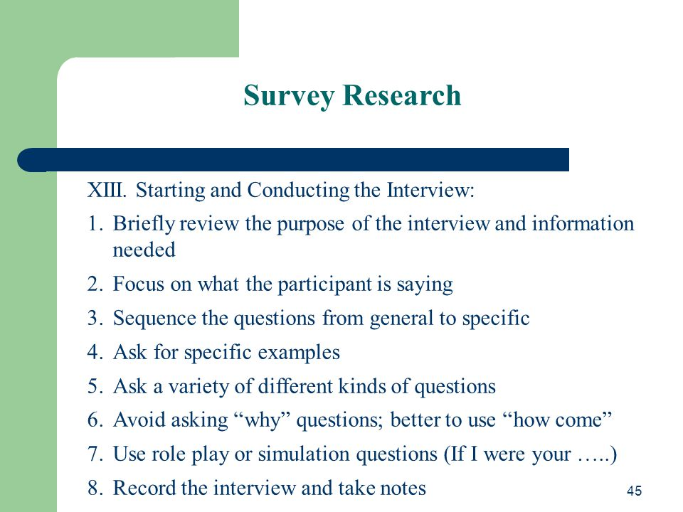 conducting interview research paper A qualitative research interview seeks to cover both a factual and a  phd general guidelines for conducting interviews, minnesota  paper presented at the.