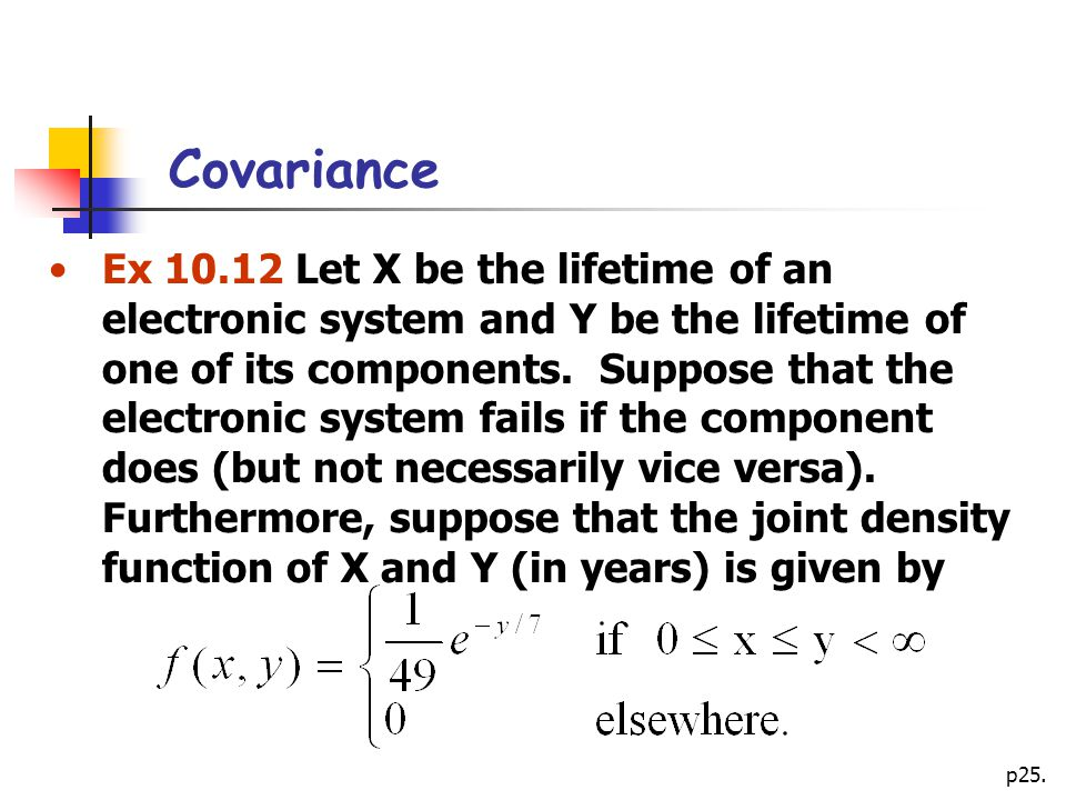 how to find covariance of x and y in stats