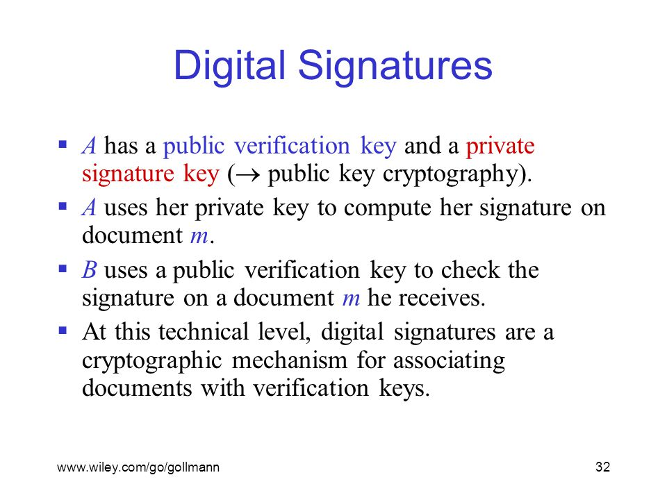cryptography and digital signatures Rsa, digital signatures, blockchain: rudiments of cryptography digital signatures what is the role of encryption or digital signatures.