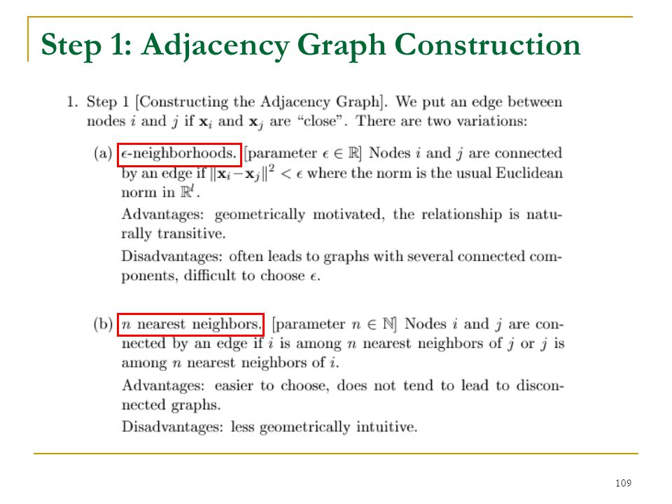 Step 1: Adjacency Graph Construction