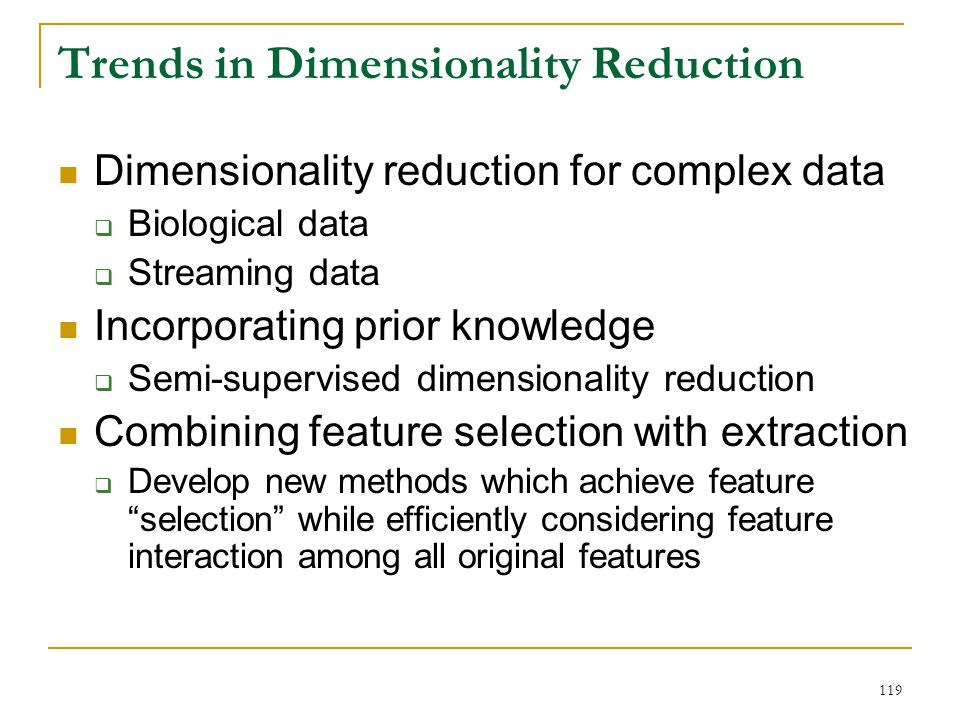 Trends in Dimensionality Reduction