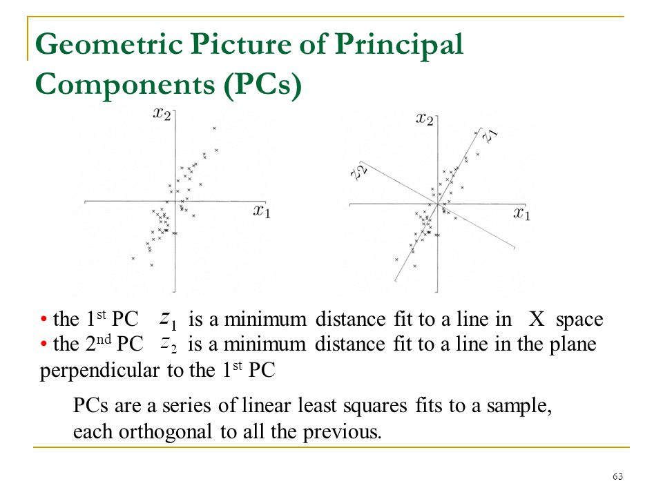 Geometric Picture of Principal Components (PCs)