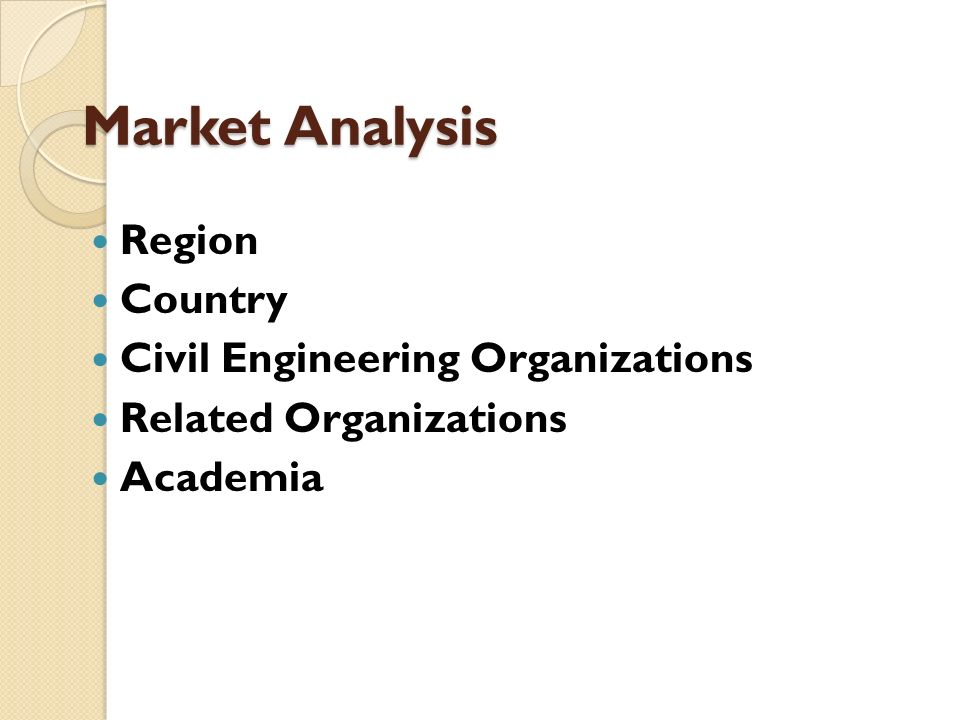 Market Analysis Region Country Civil Engineering Organizations