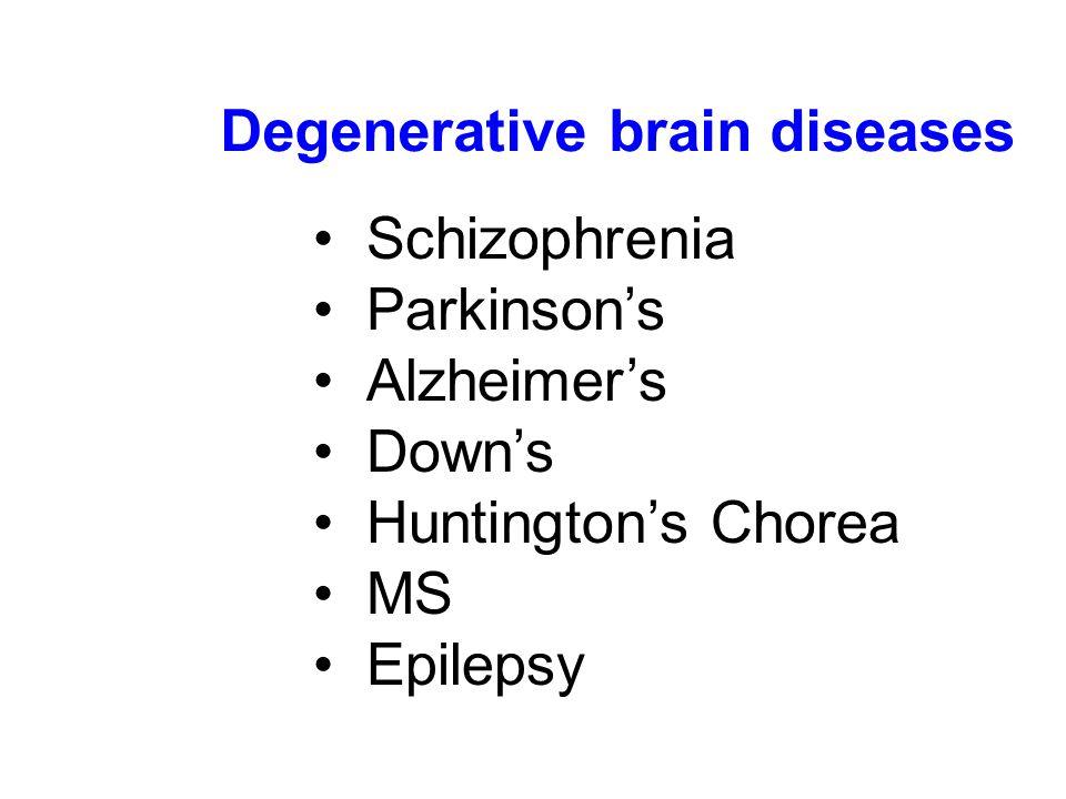 Degenerative brain diseases
