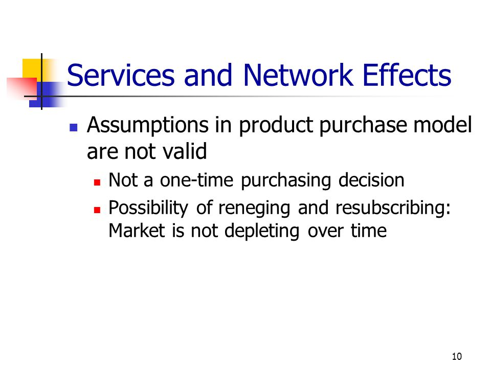 Services and Network Effects