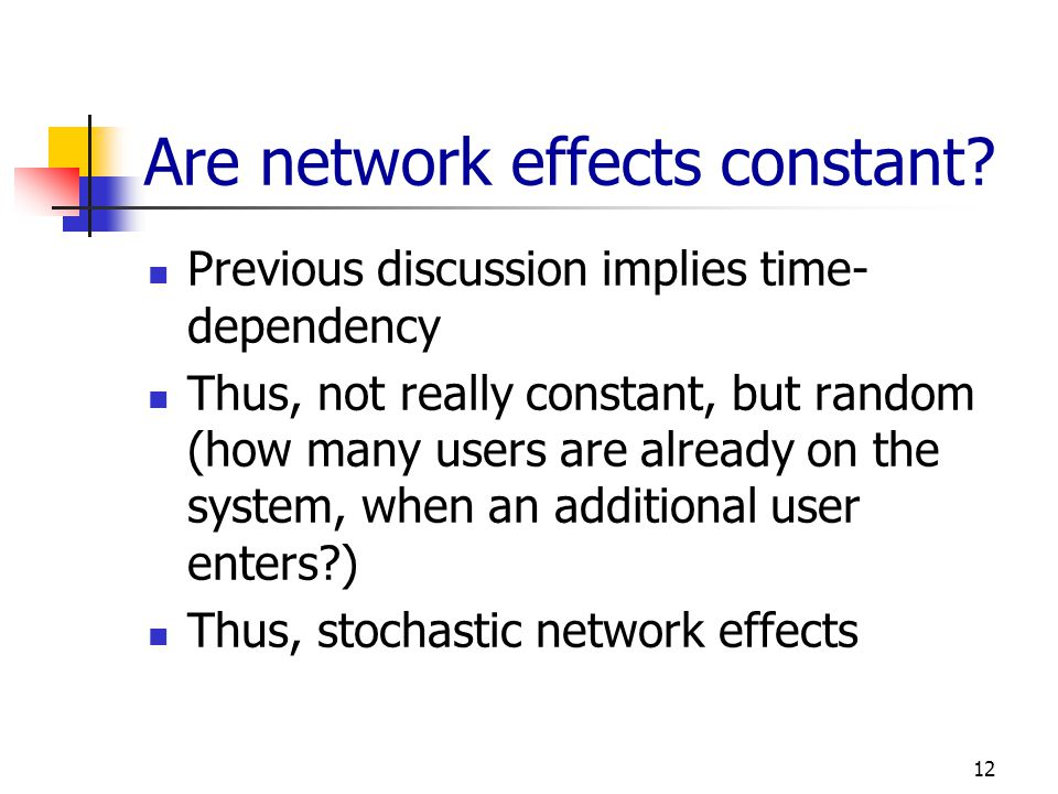 Are network effects constant