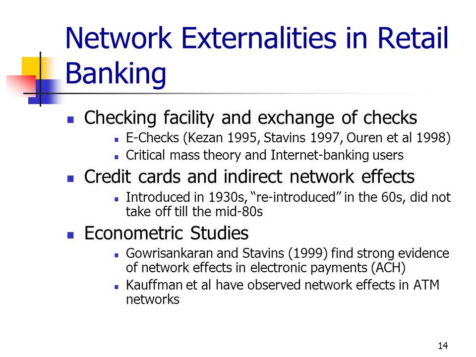 Network Externalities in Retail Banking
