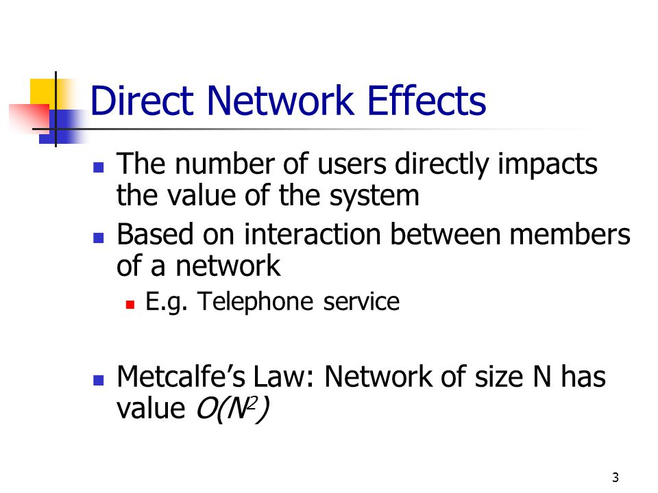 Direct Network Effects