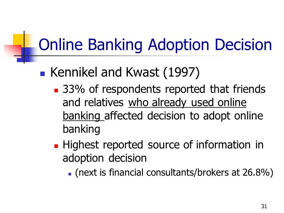 Online Banking Adoption Decision
