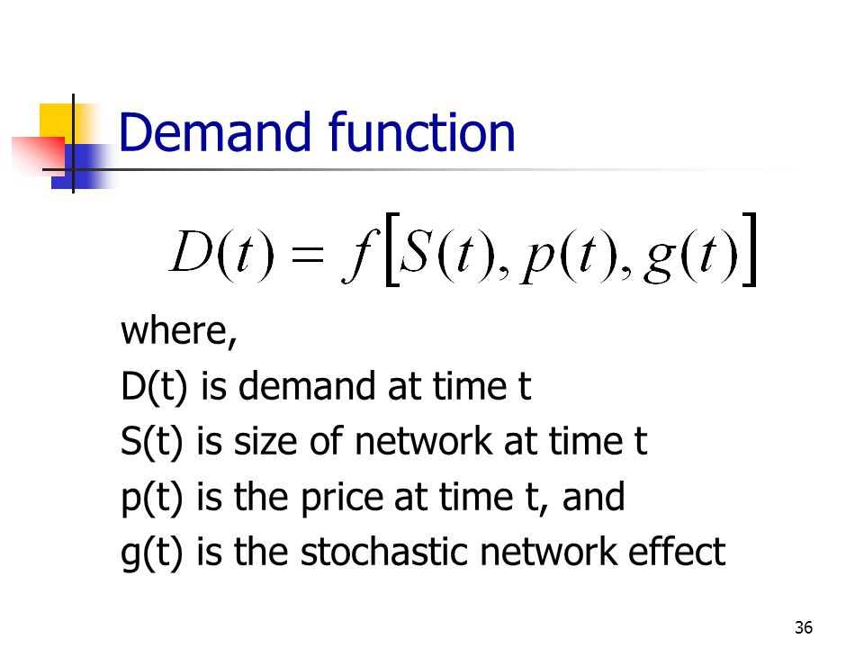 Demand function where, D(t) is demand at time t
