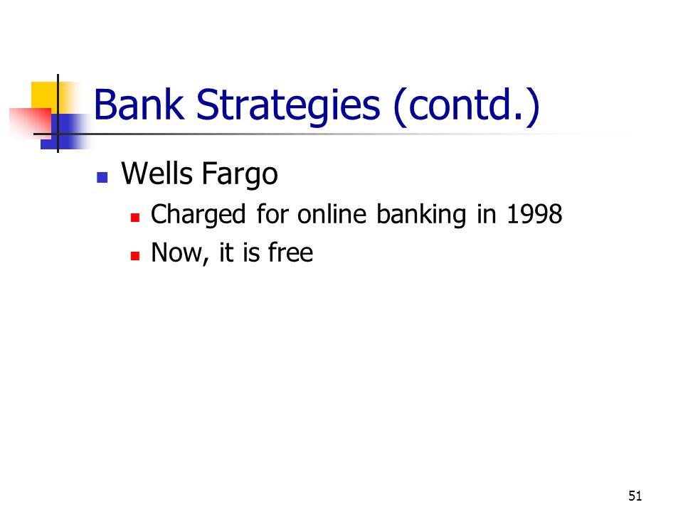 Bank Strategies (contd.)